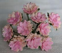 PALE PINK PINK CENTER ASTER Daisy (1.3 cm) Mulberry Paper Flowers